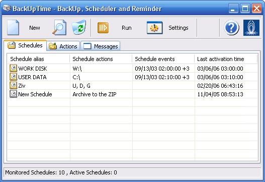Click to view BackUpTime 1.6 screenshot