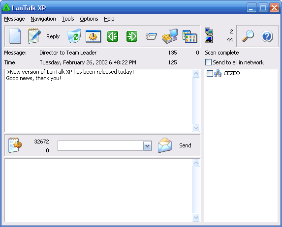 Instant messaging software for office network